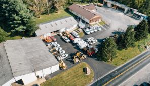 Aerial view of company property